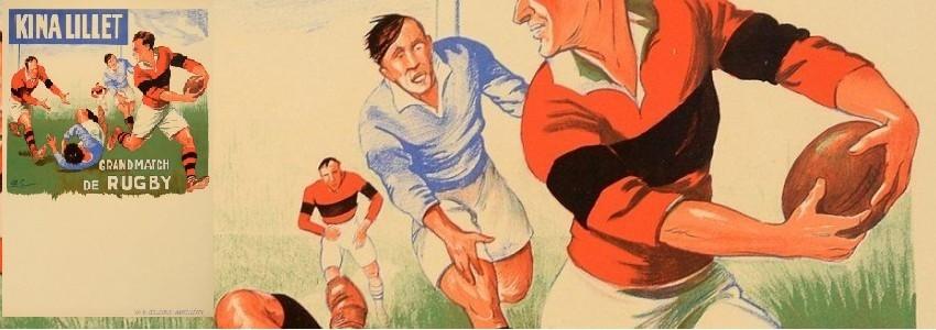 Rugby Original vintage poster rugby