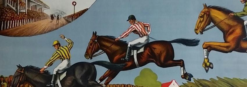 Horse Race original vintage poster